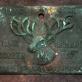 American Brass and Copper Co. Plaque - Tools and Hardware