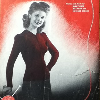 """Look Sweeter in a Sweater"" Sheet Music - Paper"