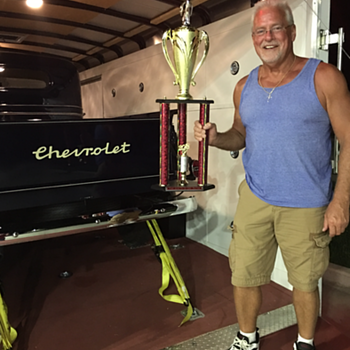 Newport, Indiana Antique Auto  Hillclimb 2018...1st place for best truck  - Classic Cars