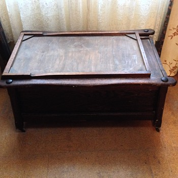 Victorian wooden box chair/bed for children in hospital or in convalescence