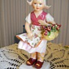 SIGNED MADE IN ITALY GIRL WITH FLOWER BASKET