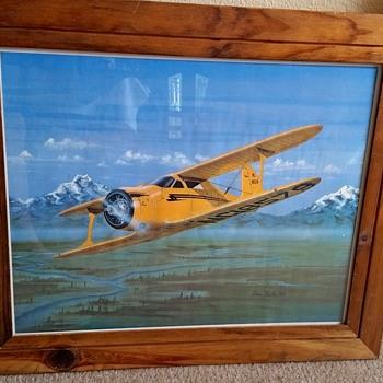 Framed Print Beechcraft D17S Biplane, 1977