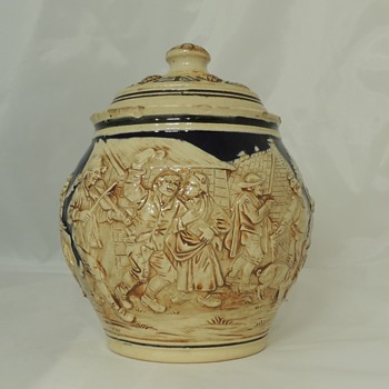German Tobacco Jar - 1910-1930 - Simon Peter Gerz - China and Dinnerware
