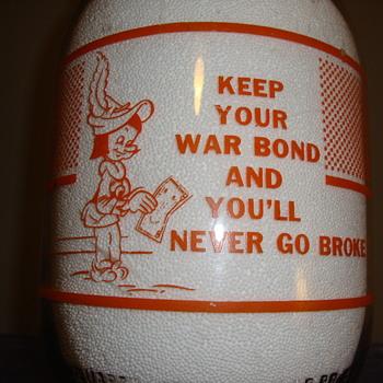 BOWMAN DAIRY COMPANY...CHICAGO ILLINOIS...GALLON WAR SLOGAN MILK BOTTLE - Bottles