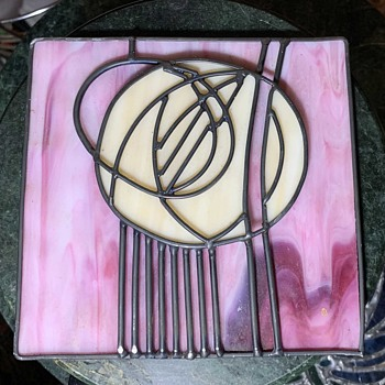 Stained Glass Rose - by Charles Rennie Mackintosh - Art Glass