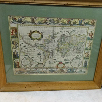 HAND COLORED WORLD MAP - Fine Art