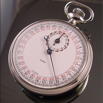 Park Swiss-Made Stop Watch Unusual Dial - Pocket Watches