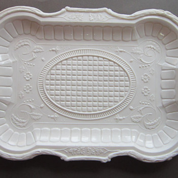 Beautiful Milk Glass Platter - Glassware