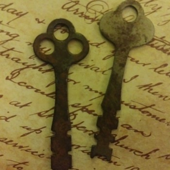 Unique Collectible antique cabinet Key Set Of 2 - Tools and Hardware