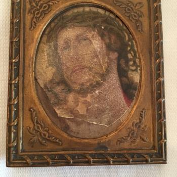 Antique Tintype Mini Photo Frame
