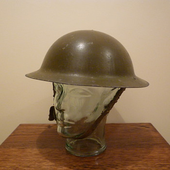 British WWII steel combat helmet. - Military and Wartime