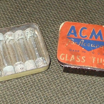 Vintage Acme Fuse Tin - Advertising