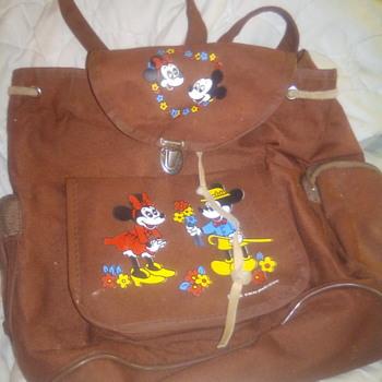 Vintage Mickey and Minnie mini backpack - Animals