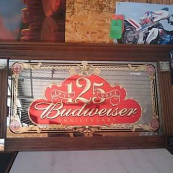 Budweiser 125th Anniversary Mirror