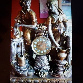 Victorian  ceramic clock - Clocks