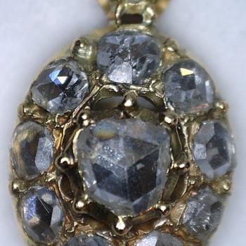 Fine antique 18ct Rose gold diamond earrings - Fine Jewelry