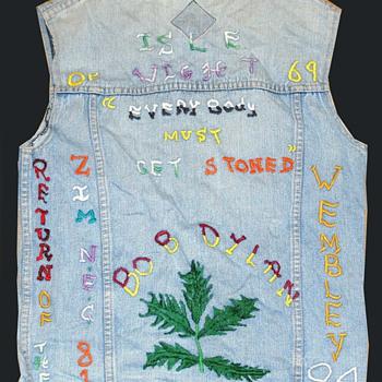 BOB DYLAN Authentic Vintage Denim CONCERT JACKET 1969 - 1984. Hippie Folk Art - Folk Art