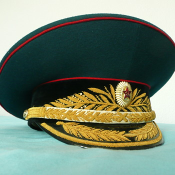 Soviet Parade Visor Cap of a Tank Troops General - Military and Wartime
