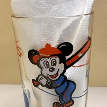 Vintage Mickey Juice Glass?