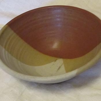 Pottery bowl signed  - Pottery