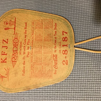 1930's Coca-Cola Paper Fan - Coca-Cola