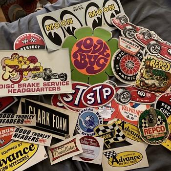 Vintage gas car stickers