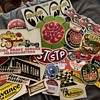 Vintage gas car stickers
