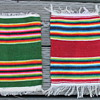 Two small native american rugs 9 1/2 inch by 6 1/2 inch.