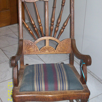 Antique Rocker may be from Germany