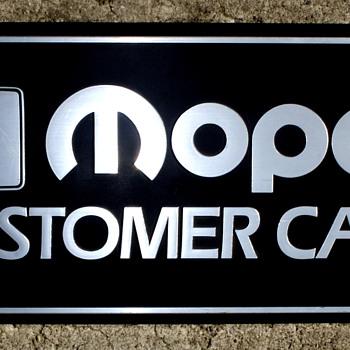 MOPAR  Service Sign