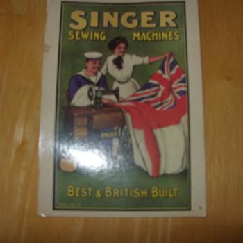 1905 singer sewing machine trading card
