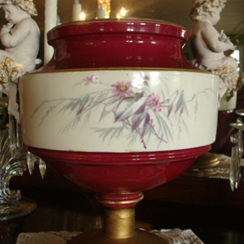Porcelain compote w/ Greek Satyr figures on each side