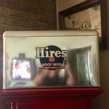1950's Hires Root Beer Embossed Cooler - Advertising