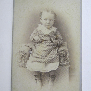 BABY HAS CABINET PHOTO TAKEN WITH A HAMMER IN HER HAND!! - Photographs