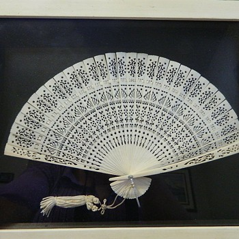 Japanese carved fan - Accessories