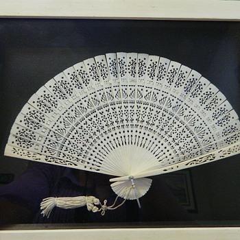 Japanese carved fan