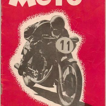 "1952 - ""MOTO"" Motorcycle Magazine - Paper"