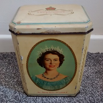 3 Royal Commemorative tins 1950s - Politics