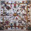 Vintage Hermes Kachinas Silk Scarf by Kermit Oliver 1992