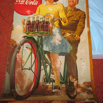Cardboard Coke Sign - Coca-Cola