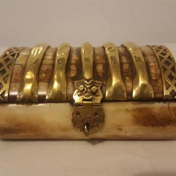 Brass African Trinket Box - Furniture