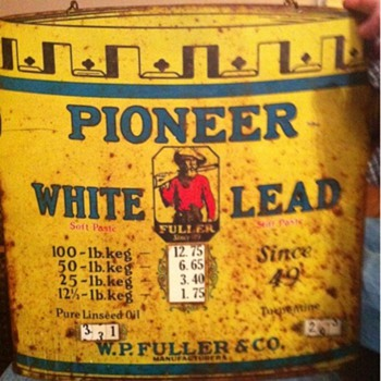 Pioneer white lead sign By W.P Fuller & co.