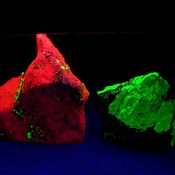 Calcite Willemite Franklinite minor Hardystonite NJ Fluorecent minerals - Fine Jewelry