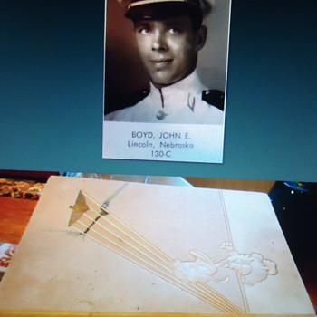 Cadet Donald Duck helps war effort 1940  as a Naval Cadet!  Over 20 drawings in 1940 Flight Book!