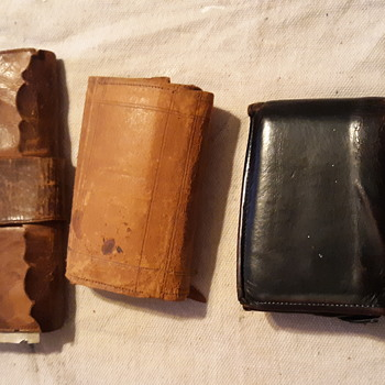 3 differant grandfathers wallets from 3 differant century's  - Accessories