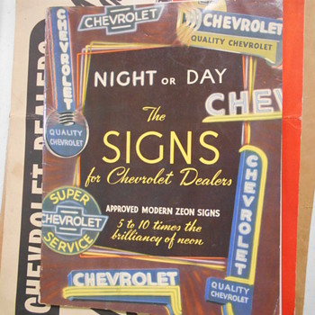 local Chevrolet dealer items from the 1940's! - Advertising