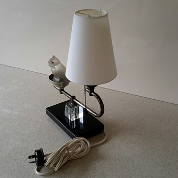 ART DECO Table Lamp with Glass Parrot Night Light PART 1/2 - Lamps