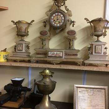 A clock in marble  - Clocks