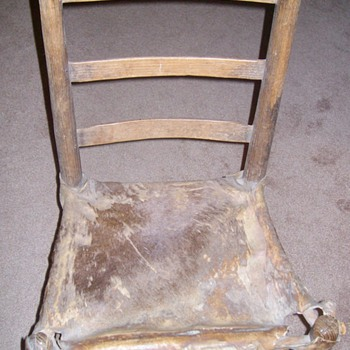 """Early 1800's """"Rawhide"""" Chair """"Family Heirloom"""""""