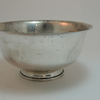 Fisher Sterling Silver Bowl - Paul Revere 1768 Reproduction - Silver